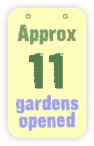 approx 11 gardens opened